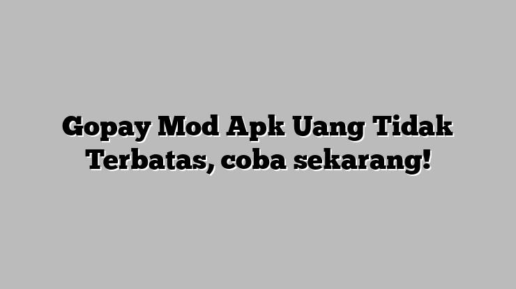 GoPay MOD APK