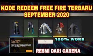 Kode Redeem Free Fire Sg Rapper - Edisi 10 September